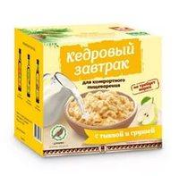 Завтрак кедровый для пищеварения с тыквой и грушей